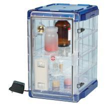 Bel-Art Secador Vertical Profile Clear 4.0 Auto-Desiccator Cabinet with Blue End-Caps; 100V, 1.9 cu. ft. (F42074-1106)