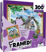 MasterPieces Wood Framed Delphinium Cottage - Vibrant Cottage Mini 300 Piece Framed Jigsaw Puzzle by Howard Robinson