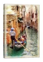 LightFairy Glow in The Dark Canvas Painting - Stretched and Framed Giclee Wall Art Print - Like Oil Painting Venice - Master Bedroom Living Room Decor - 6 Hours Glow - 24 x 36 inch