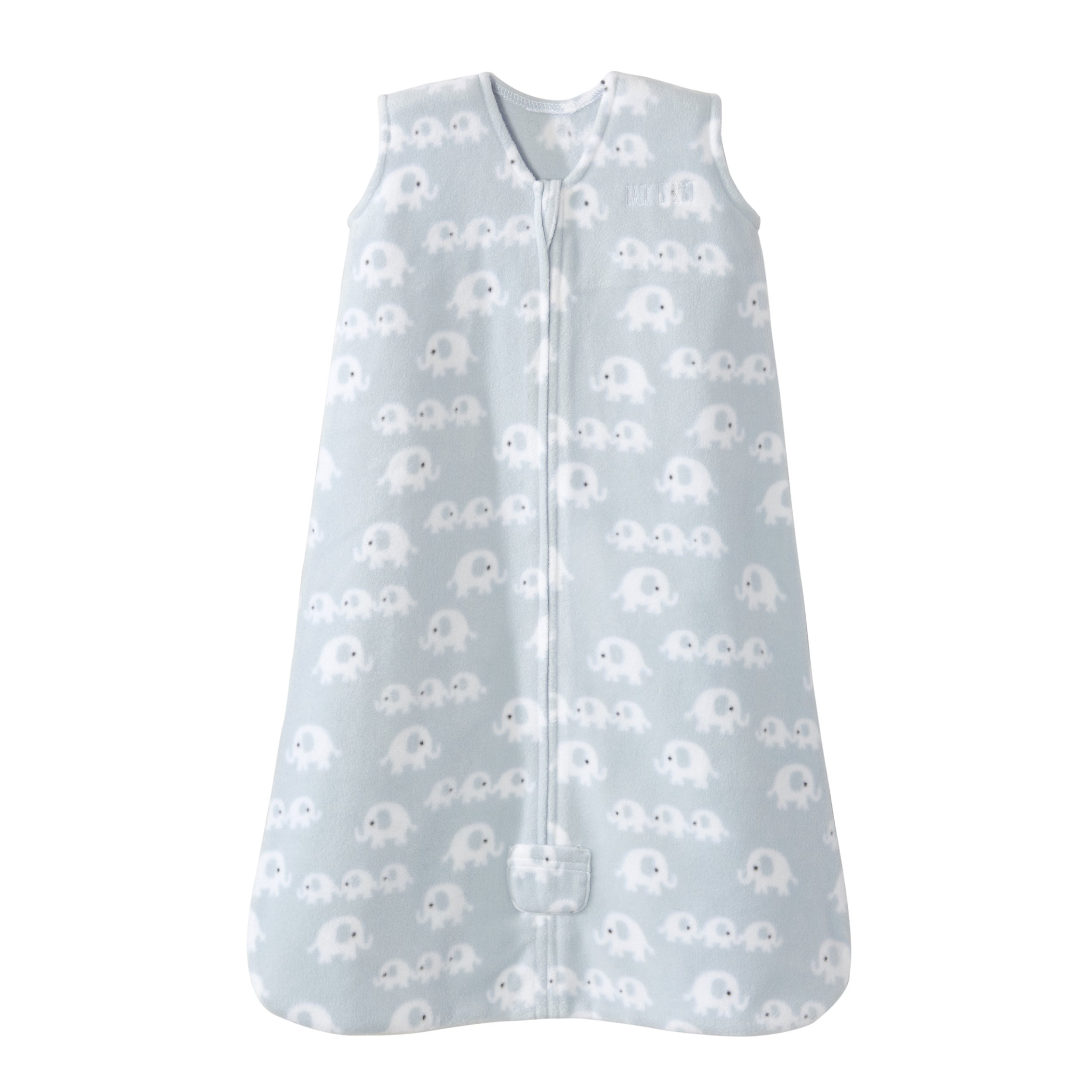 HALO Sleepsack Wearable Blanket Micro Fleece - 3 Elephants Blue, Size XLarge