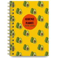 June 2019 - July 2020 Avocado Soft Cover Academic Year Day Planner Calendar Book by Bright Day, Weekly Monthly Dated Agenda Spiral Bound Organizer, 6.25 x 8.25 Inch,