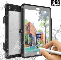 ipad 10.2 2019 Waterproof Case, ACase iPad 7th Generation Case IP68 Waterproof ipad 10.2 Cover with Strap Stand Pencil Holde Built-in Screen Protector Rugged Shockproof Case