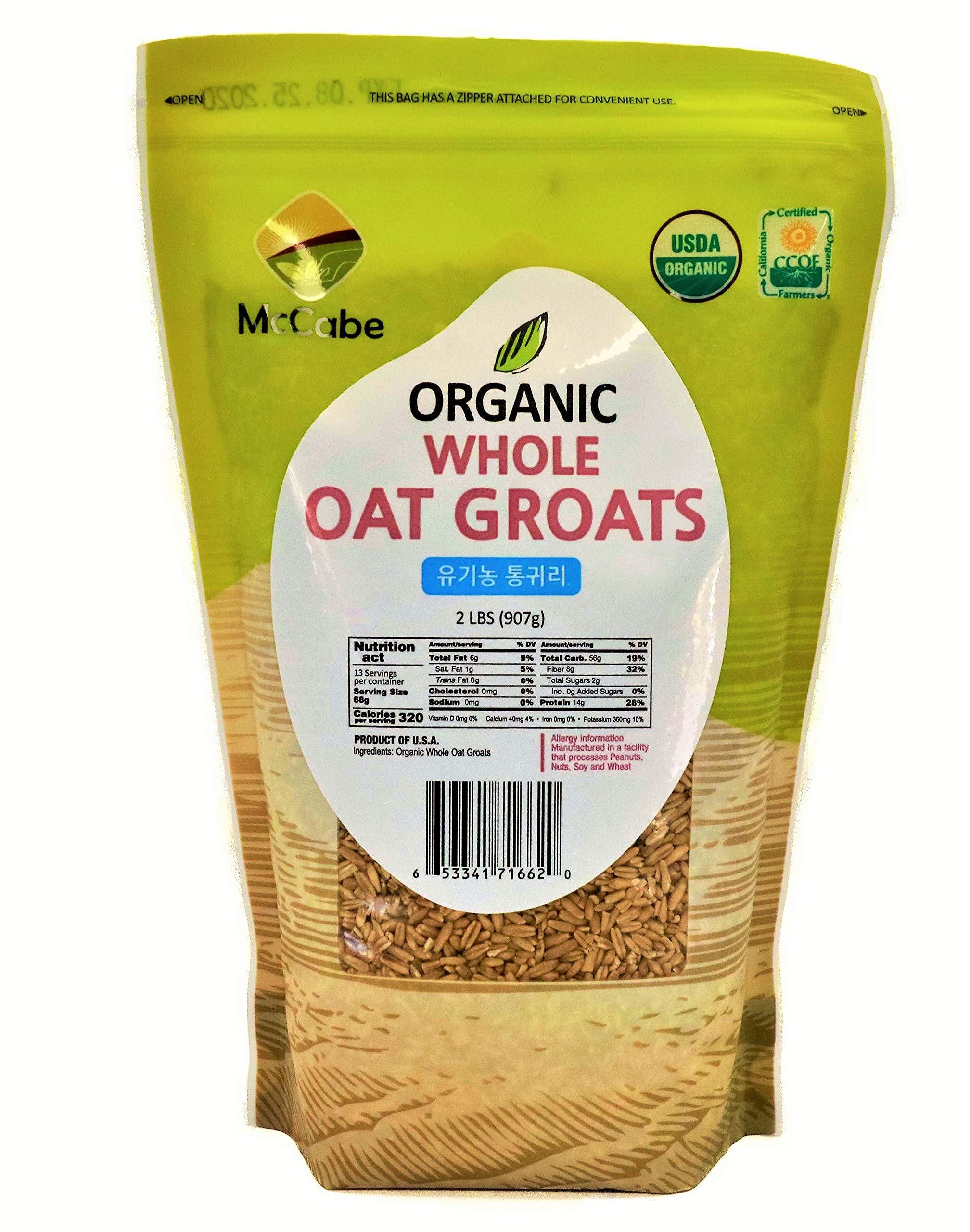 McCabe Organic Whole Oat Groats, 2lbs