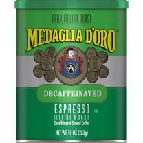 Medaglia D'Oro Decaf Italian Roast Espresso Style Ground Coffee, 10 Ounces