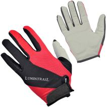 Lumintrail Womens Full-Finger Riding Cycling Gloves Shock-Absorbing Breathable Sport Gloves