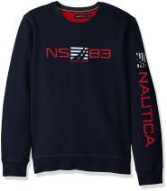 Nautica Long Sleeve Classic Fit Logo Crewneck Sweatshirt