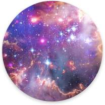"""Round Mouse Pad, Purple Star Galaxy Mouse Pad, Colorful Space Gaming Mouse Mat Waterproof Circular Small Mouse Pad Non-Slip Rubber Base MousePads for Office Home Laptop Travel, 7.9""""x0.12"""" Inch"""