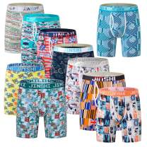 JINSHI Men's Underwear Long Boxer Briefs Underpants The Boxer for Men Breathable Bamboo Fiber Pack