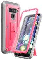 SupCase Unicorn Beetle PRO Series Design for LG V50 / LG V50 ThinQ 5G Case 2019, Full-Body Protective Case with Built-in Screen Protector Kickstand & Holster Clip (Pink)