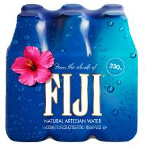FIJI Water Artesian Water, 11.15 Fl Oz Bottle (6-Pack) | Natural Electrolytes | BPA Free 330mL Bottle | Earth's Finest Water | Perfect for kids, events and offices