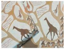eVincE thick Matte Giraffe Gift Wrapping Paper Bundle | Happy Facts for baby, Kids and Children | Safari theme party, Animal Birthday, for boy and girl gifts | Set of 100 sheets (70x50 cms) recyclable