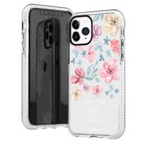 iPhone 11 Pro Max Case,Pink Roses Spring Summer Floral Flowers Bible Verses Inspirational Quotes God's Masterpiece Trendy Girls Women Soft Protective Clear Design Case Compatible for iPhone 11 Pro Max