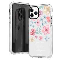 iPhone 11 Pro Case,Pink Roses Spring Summer Floral Flowers Bible Verses Inspirational Quotes God's Masterpiece Trendy Girls Women Soft Protective Clear Case With Design Compatible for iPhone 11 Pro
