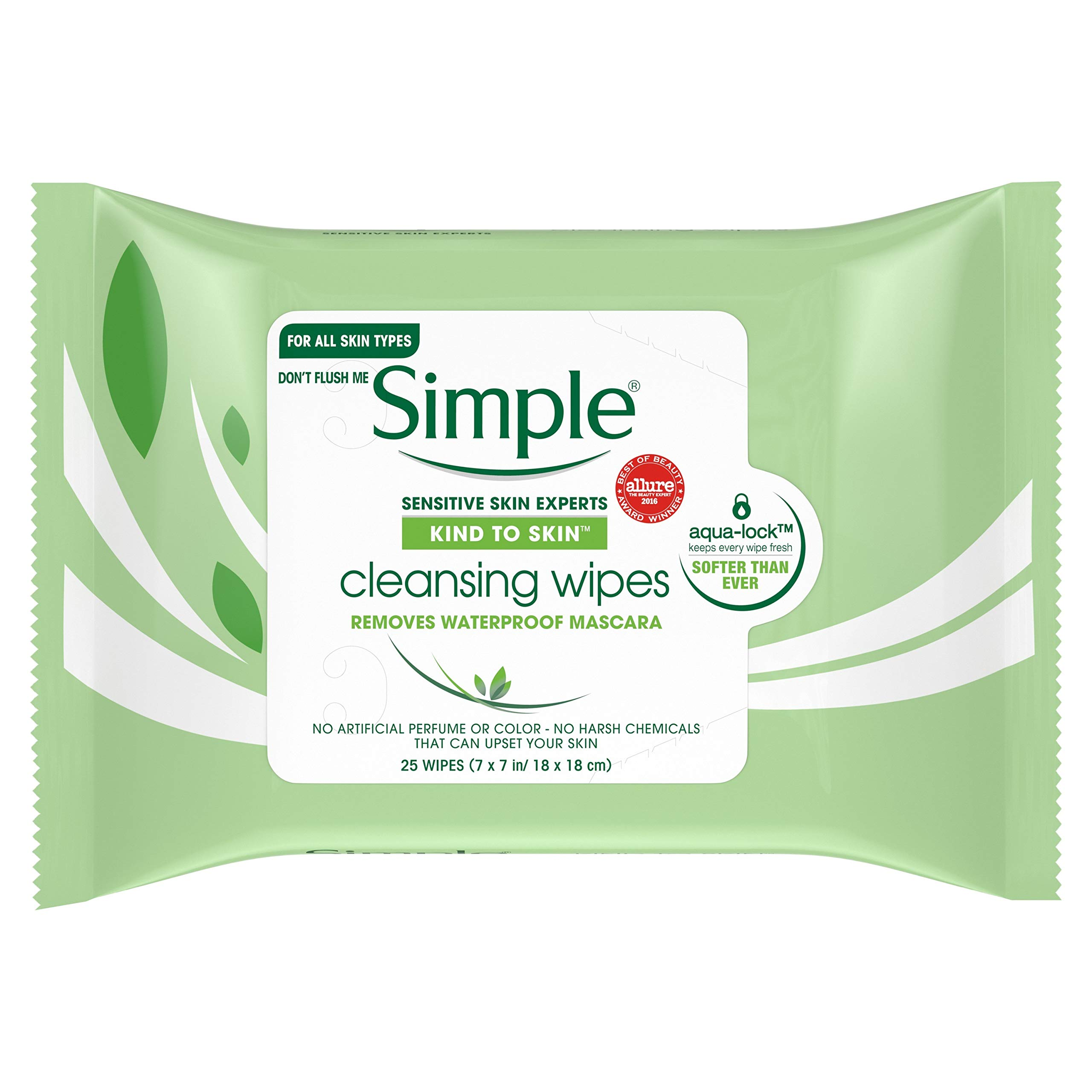 Simple  Cleansing Facial Wipes 1 DS(Pack of 2)