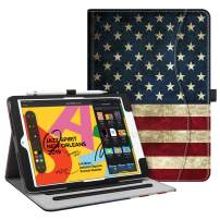 """Fintie Case for New iPad 7th Generation 10.2 Inch 2019 - [Corner Protection] Multi-Angle Viewing Folio Smart Stand Back Cover with Pocket, Pencil Holder, Auto Wake/Sleep for iPad 10.2"""", US Flag"""