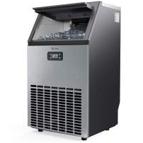 Vremi Commercial Grade Ice Maker - Produces 100 Pounds of Ice in 24 Hrs with 29 Pounds Storage Bin - Stainless Steel, Freestanding Automatic Clear Cube Ice Making Machine Perfect for Home or Business