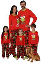 Dr. Seuss Grinch Christmas Pajamas - Matching Family Adult Kids Pajama Sets