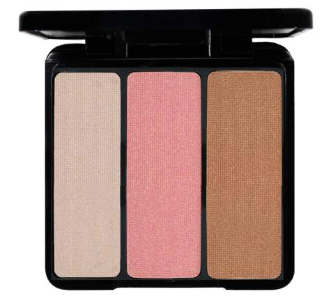 EVE PEARL Blush Trio Blush Palette Everyday Natural Looking Long Lasting Makeup Vitamin E Skincare- Bronzing Highlighter