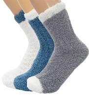 Women's Warm Fuzzy Fluffy Socks Super Soft Cozy 5-7 Pairs Christmas Gift Home Slipper Socks