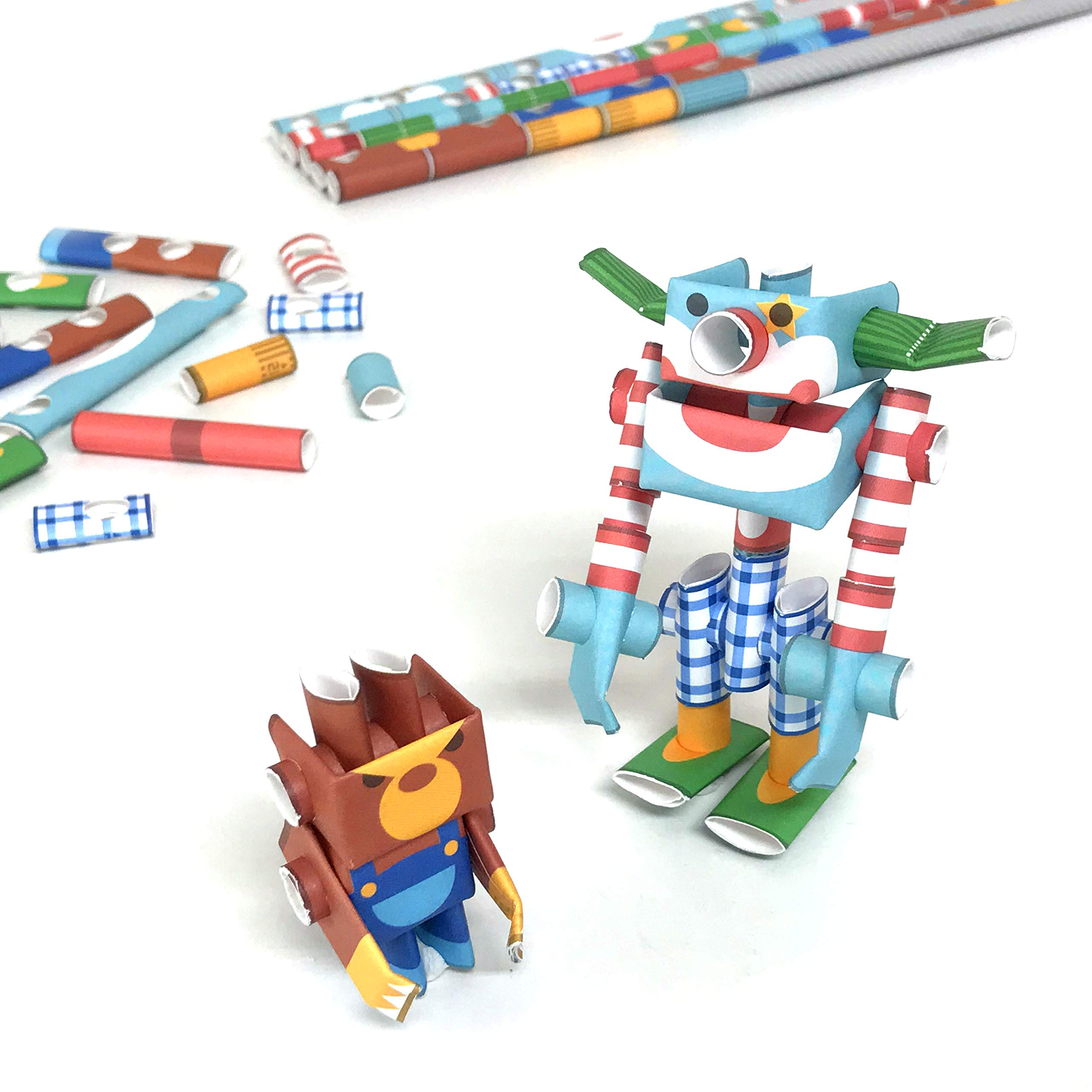 PIPEROID DIY Paper Craft Kit Funny & Angry Circus Duo - Japanese Arts and Craft Kit for Kids and Adults - Birthday Gift and Party Favor for 3D Puzzle and Origami Paper Craft Enthusiasts