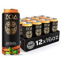 ZOA, 100 Calorie Energy Drink, Wild Orange, 16 fl. oz. (Pack of 12) - Supports Healthy Immunity, Focus, Hydration, Body & Energy - 100% DV Vitamins C, B6 & B12