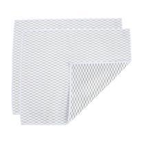 "Casabella Microfiber 12"" x 14"" Cloth, Pack of 2, Black Honeycomb, White Glass"