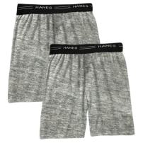 Hanes Men's 2-Pack Exposed Waistband Knit Boxers