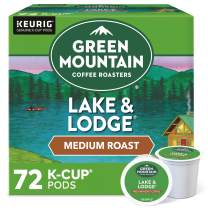 Green Mountain Coffee Roasters Lake & Lodge, Single-Serve Keurig K-Cup Pods, Medium Roast Coffee Pods, 72 Count