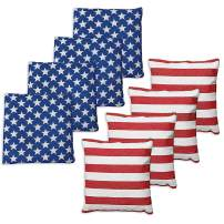 Premium Weather Resistant Duckcloth Cornhole Bags - Set of 8 Bean Bags for Corn Hole Game - Regulation Size & Weight