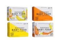 White Leaf Provisions' — 90g. 24 Pouches of Biodynamic Organic Baby Food Variety Pack – Carrot + Sweet Potato + Pea AND Mango + Carrot + Banana + Pear — Unsweetened Baby Food — For Babies and Toddlers