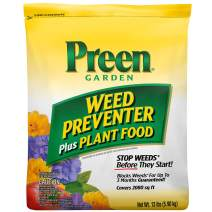 Preen 2164091 Garden Weed Preventer + Plant Food - 13 lb. - Covers 2,080 sq. ft.