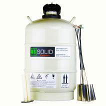 U.S.SOLID 20 L Cryogenic Container Liquid Nitrogen (LN2) Dewar Semen Tank 6 Canisters Carry Bag