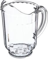 Carlisle 554407 Restaurant Style Pitcher With Window, 60 oz, Clear (Pack of 6)