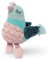 Finn + Emma Rattle Buddy Organic Cotton Knit Rattle for Baby Boy or Girl – Penny the Pigeon