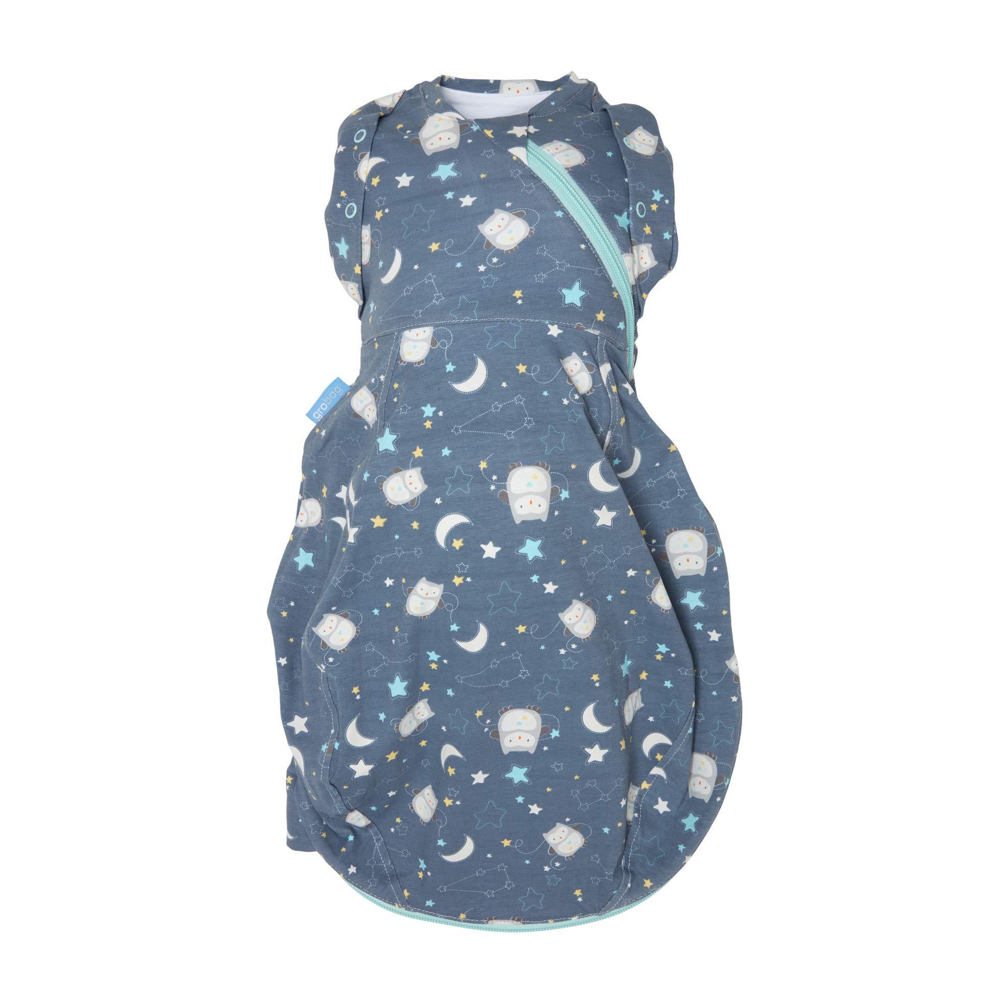 Tommee Tippee Grosnug Newborn Swaddle Sleeping Bag, Hip-Healthy Sleeping Sack - Ollie The Owl - Small Size, 0-3 Months, Blue - Warm 2.5 Tog Tog