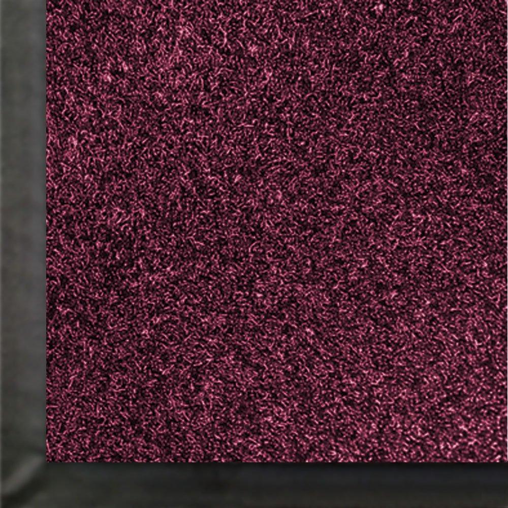 M+A Matting 871 Impressionist Olefin Fiber Interior Floor Mat, Non-Woven Polyester and Vinyl Backing, 5' Length x 3' Width, Burgundy