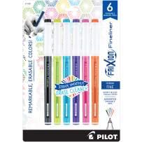 PILOT FriXion Fineliner Erasable Marker Pens, Fine Point, Assorted Vivid Color Inks, 6-Pack (11881)