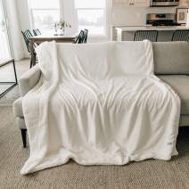 "GRACED SOFT LUXURIES Throw Blanket Sherpa Fleece Minky Microfiber Reversible Soft Throw (Ivory, XL Throw 60"" x 80"")"