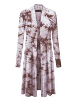 MBJ Womens Long Sleeve Open Front Long Cardigan - Made in USA