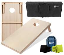 Tailgating Pros Cornhole Boards - 4'x2' & 3'x2' Cornhole Game w/Carrying Case & Set of 8 Corn Hole Bags - 150+ Color Combos! Optional LED Lights