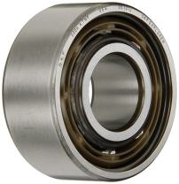 """SKF 3305 ATN9 Double Row Ball Bearing, Converging Angle Design, ABEC 1 Precision, Open, Plastic Cage, Normal Clearance, 25mm Bore, 62mm OD, 1"""" Width, 11000 rpm Maximum Rotational Speed, 4590.0 pounds Static Load Capacity, 7200.00 pounds Dynamic Load Capacity"""