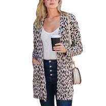 Amaryllis Apparel Women's Open Front Long Sleeve Loose Cut Two Pocket Knit Boyfriend Cardigan Sweater