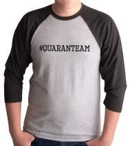 7 ate 9 Apparel Men's Quaranteam Funny Grey Shirt