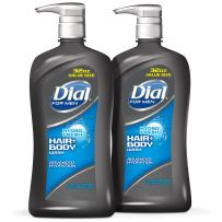 Dial for Men Hair and Body Wash, Hydrofresh, 32 Ounces (Pack of 2)