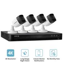 Defender 4K Outdoor Security Camera System with 4 Weather Resistant, Night Vision Cameras, 1TB DVR and Remote Viewing Capabilities