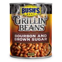 BUSH'S BEST Bourbon and Brown Sugar Grillin' Beans, 22 Ounce Can (Pack of 12)