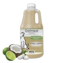 WAHL Dry Skin & Itch Relief Pet Shampoo for Dogs – Oatmeal Formula with Coconut Lime Verbena - 64 Oz