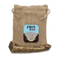 "Paws & Co - Naturally Shed Split Elk Antlers for Dogs, Liver Coated for Added Flavor, Dog Treats, Dog Chew, Elk Antlers, Great for Grain-Free Diet, Hand-Cut, for Small/Medium Dog (Medium Split, 6"")"