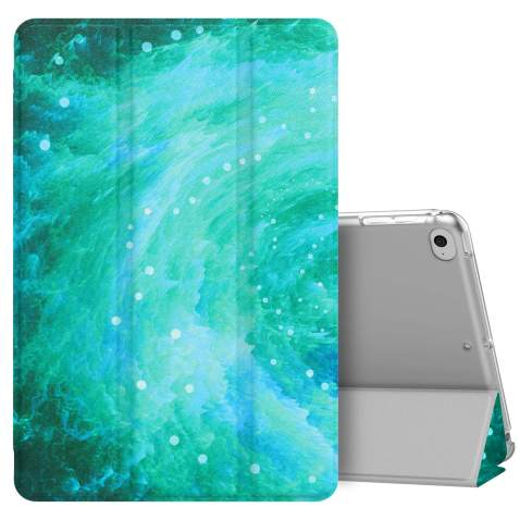MoKo Case Fit New iPad Mini 5 2019 (5th Generation 7.9 inch), Slim Lightweight Smart Shell Stand Cover with Translucent Frosted Back Protector, with Auto Wake/Sleep - Swirl