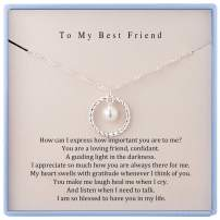 to My Best Friend Necklace Sterling Silver Best Friend Necklaces Friendship Necklace BFF Gifts Birthday Gifts for Best Friend